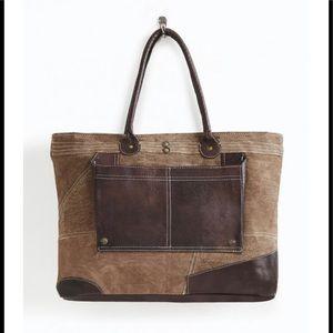 Mona B Dakota Canvas & Leather Tote